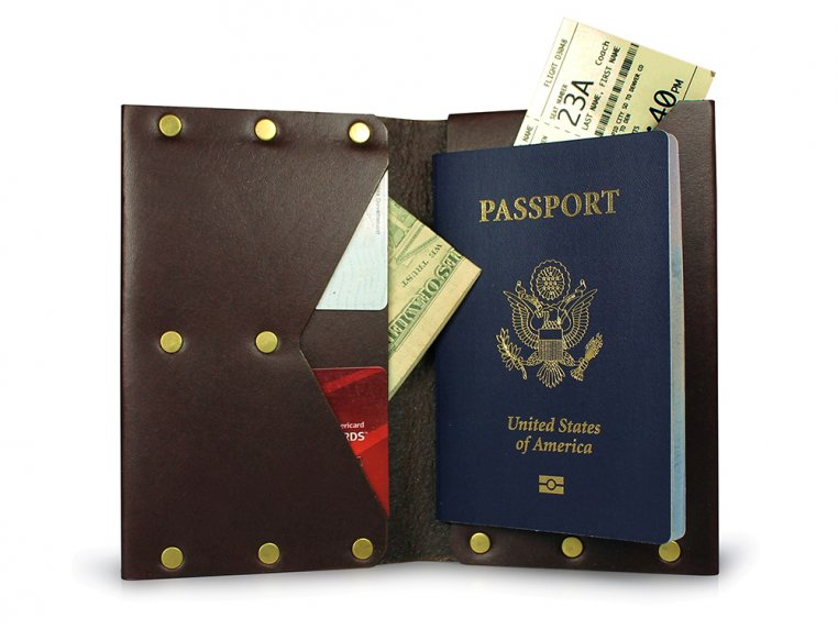 Travel Journal Wallet by American Bench Craft - 5