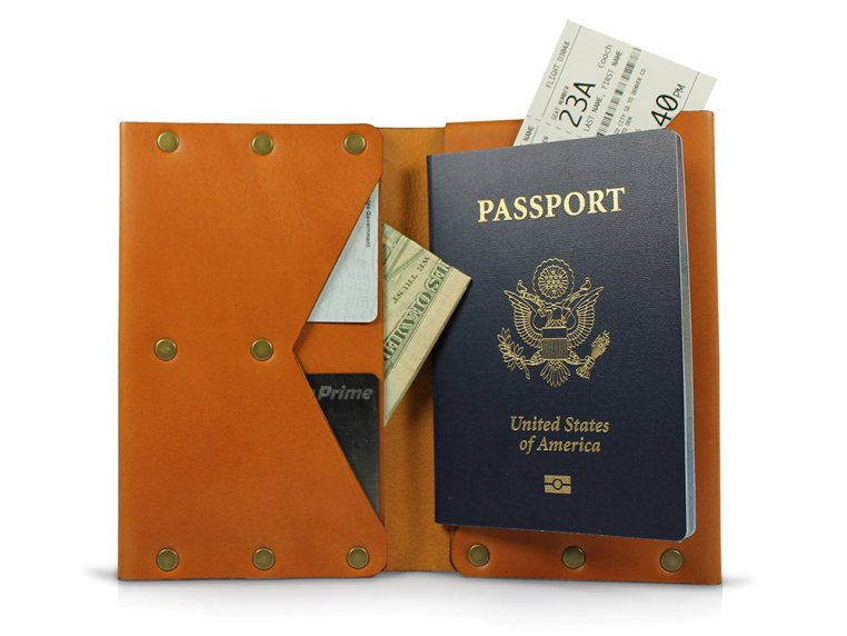 Travel Journal Wallet by American Bench Craft - 6