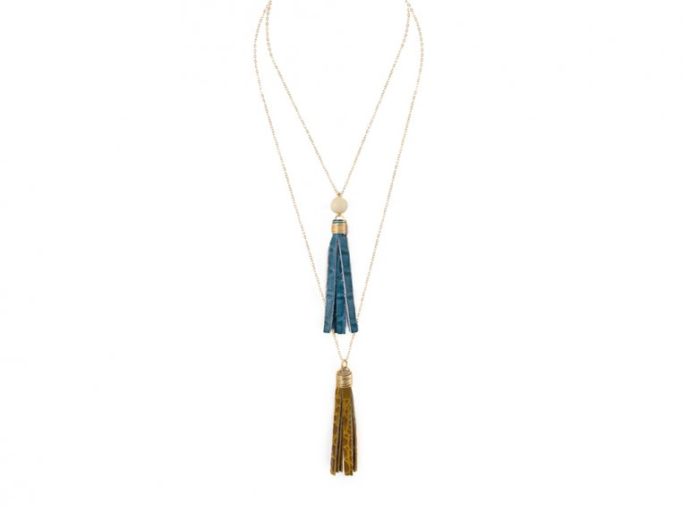Layered Tassel Necklace by Faire Collection - 7