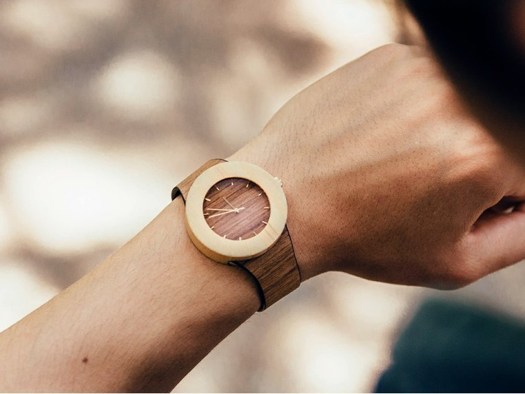 Teak & Bamboo Carpenter Watch by Analog Watch Co. - 1