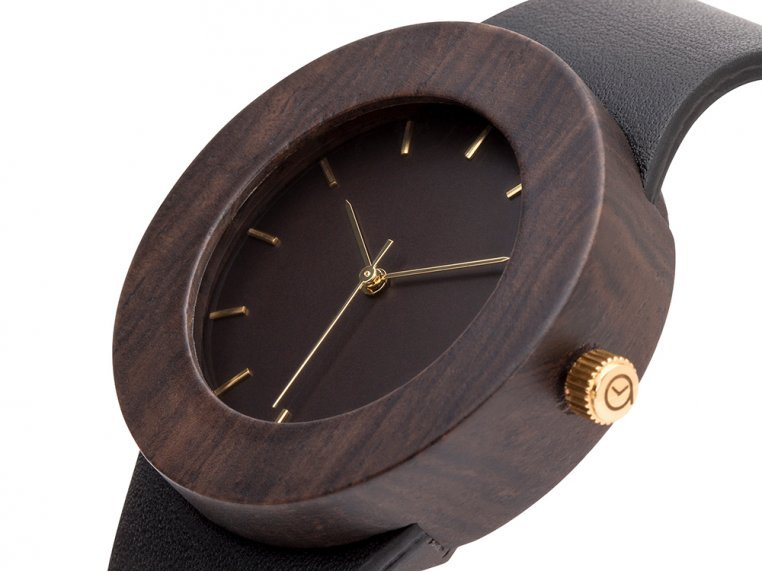Leather & Blackwood Watch by Analog Watch Co. - 3