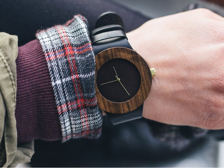 Leather & Blackwood Watch by Analog Watch Co. - 1