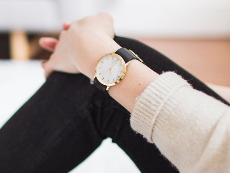 White Marble Classic Watch by Analog Watch Co. - 2