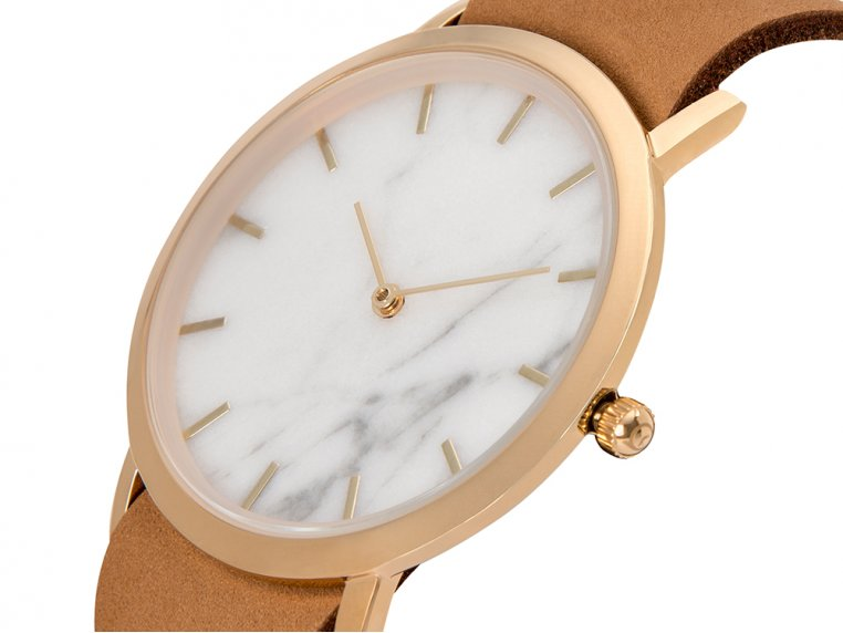 White Marble Classic Watch by Analog Watch Co. - 3