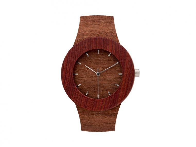 Makore & Red Sanders Watch by Analog Watch Co. - 5