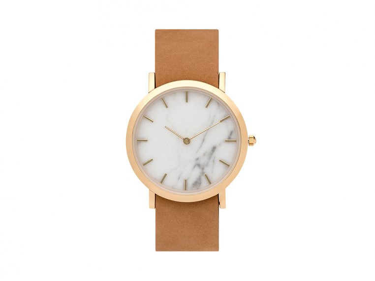 White Marble Classic Watch by Analog Watch Co. - 5