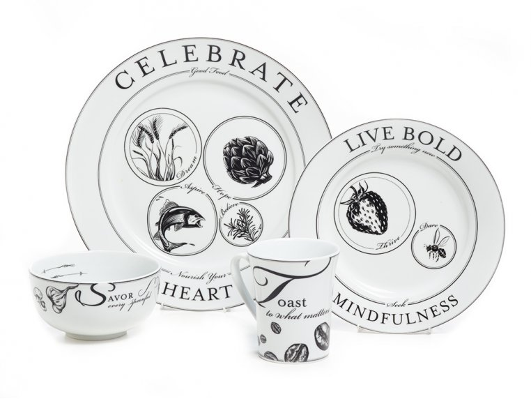 Celebrate Portion Control Dinnerware - Set of 4 by Livliga - 3