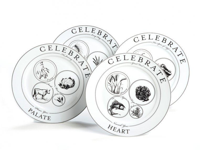Celebrate Portion Control Dinnerware - Set of 4 by Livliga - 5