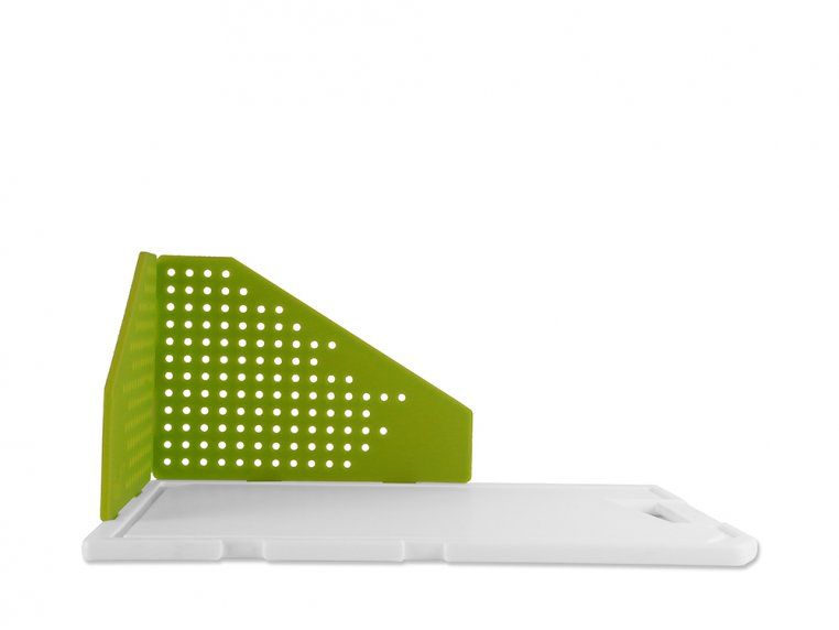 Cutting Board with Folding Strainer by TNK - 5