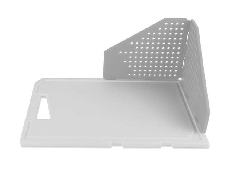 Cutting Board with Folding Strainer by TNK - 6