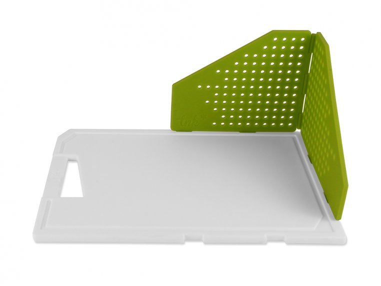 Cutting Board with Folding Strainer by TNK - 7