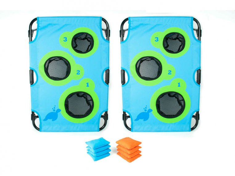 Bean Bag Toss Board Game Set by SeaTurtle Sports - 7