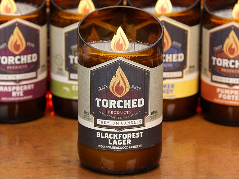 Beer Bottle Candle by Torched Products - 2