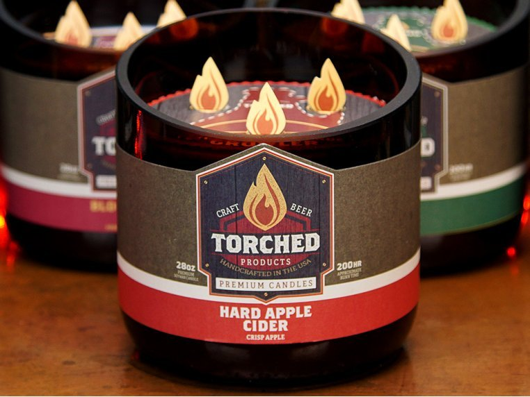 Beer Bottle Candle by Torched Products - 3