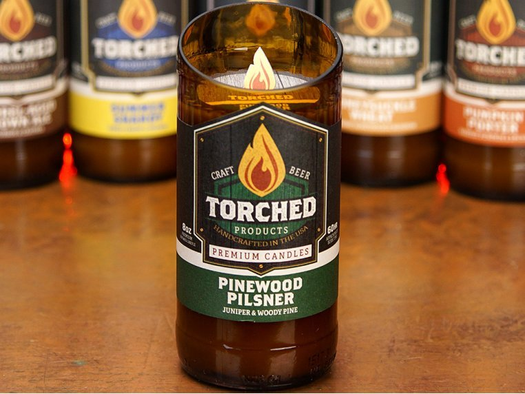 Beer Bottle Candle by Torched Products - 1