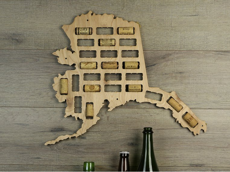 Choose Your State Wine Cork Map by Torched Products - 15