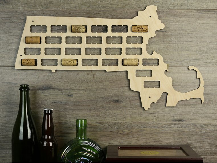 Choose Your State Wine Cork Map by Torched Products - 14
