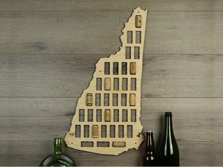 Choose Your State Wine Cork Map by Torched Products - 12