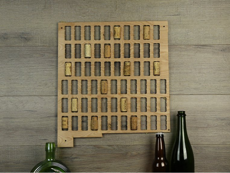 Choose Your State Wine Cork Map by Torched Products - 9