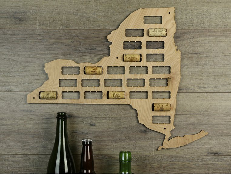 Choose Your State Wine Cork Map by Torched Products - 8