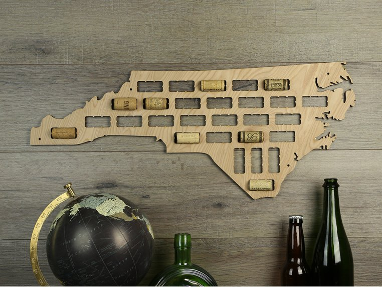 Choose Your State Wine Cork Map by Torched Products - 13