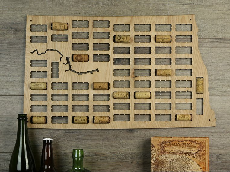 Choose Your State Wine Cork Map by Torched Products - 11