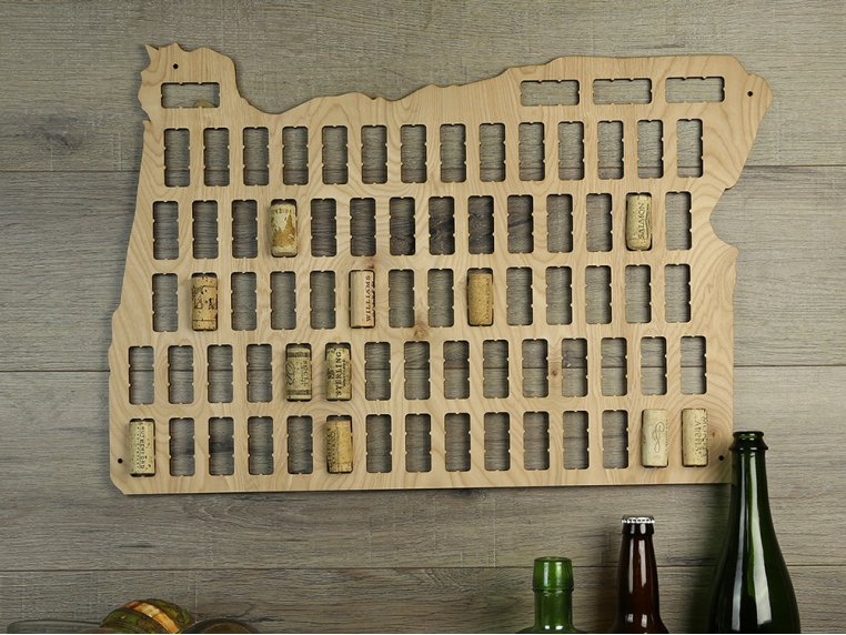 Choose Your State Wine Cork Map by Torched Products - 2