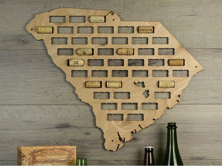 Choose Your State Wine Cork Map by Torched Products - 6