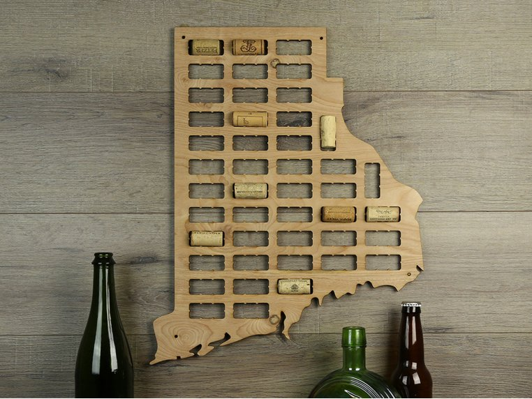 Choose Your State Wine Cork Map by Torched Products - 7