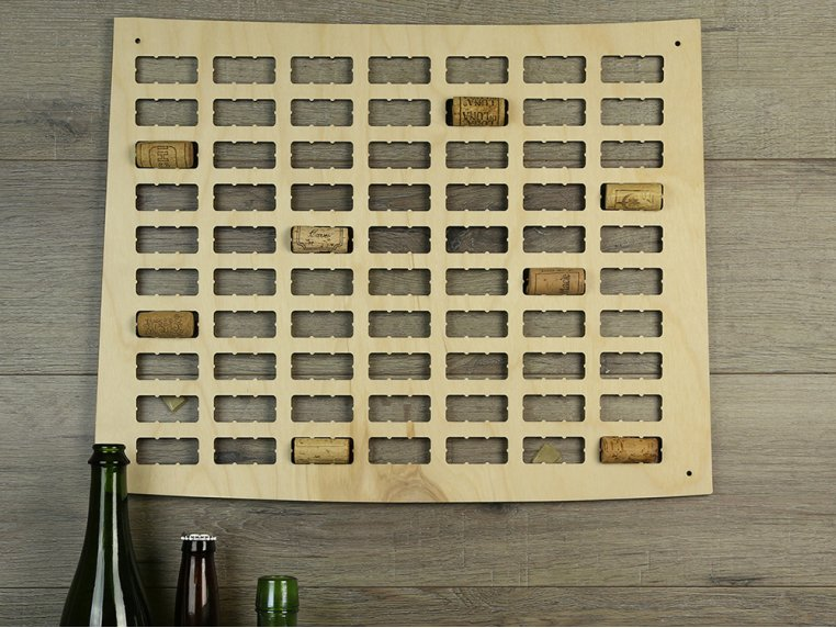 Choose Your State Wine Cork Map by Torched Products - 3