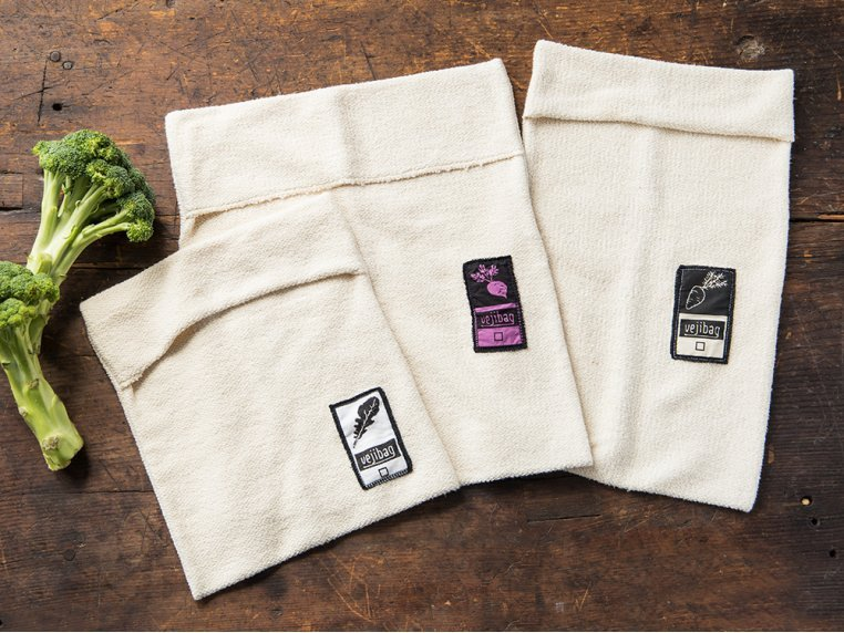 Organic Terry Cloth Produce Storage Bag - Variety Pack by Vejibag - 1