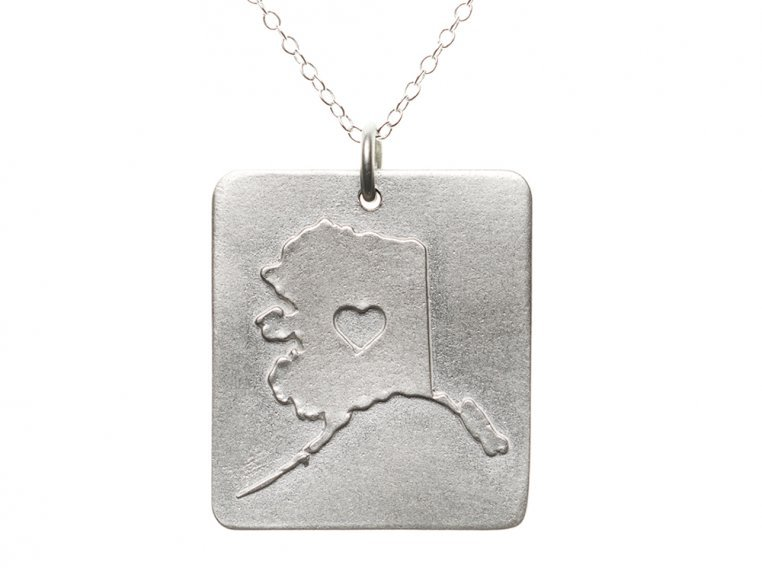 State Love Pendant Necklace by Precious Metal Prints - 5