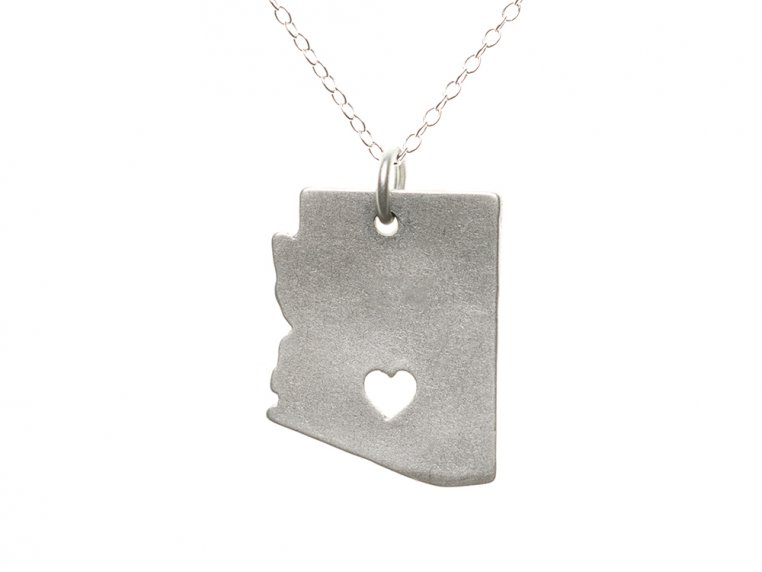 State Love Pendant Necklace by Precious Metal Prints - 6