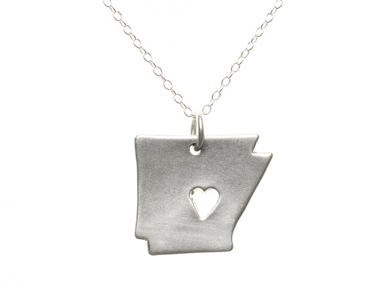 State Love Pendant Necklace by Precious Metal Prints - 7