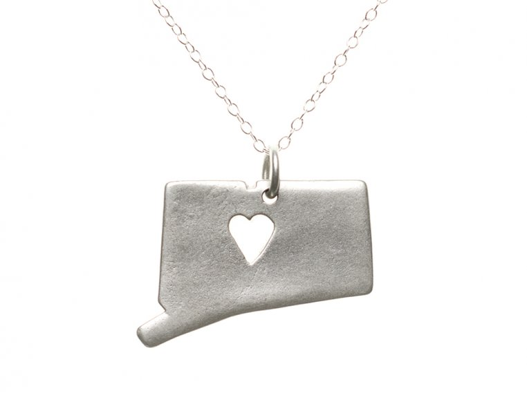 State Love Pendant Necklace by Precious Metal Prints - 10