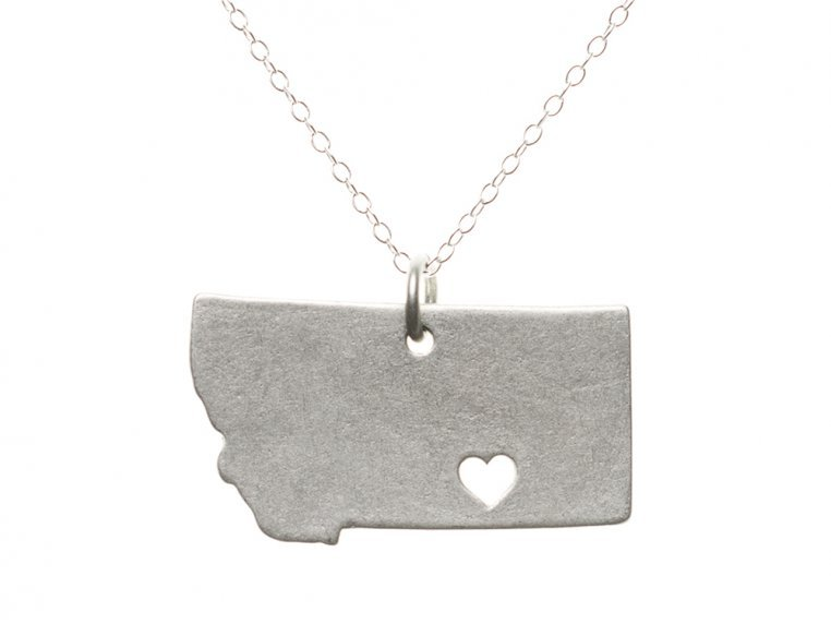 State Love Pendant Necklace by Precious Metal Prints - 29