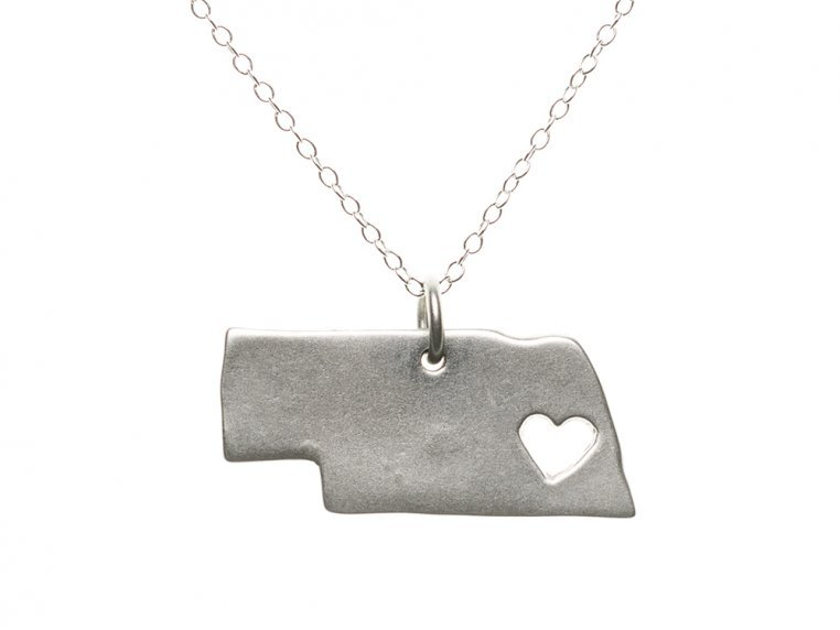 State Love Pendant Necklace by Precious Metal Prints - 30