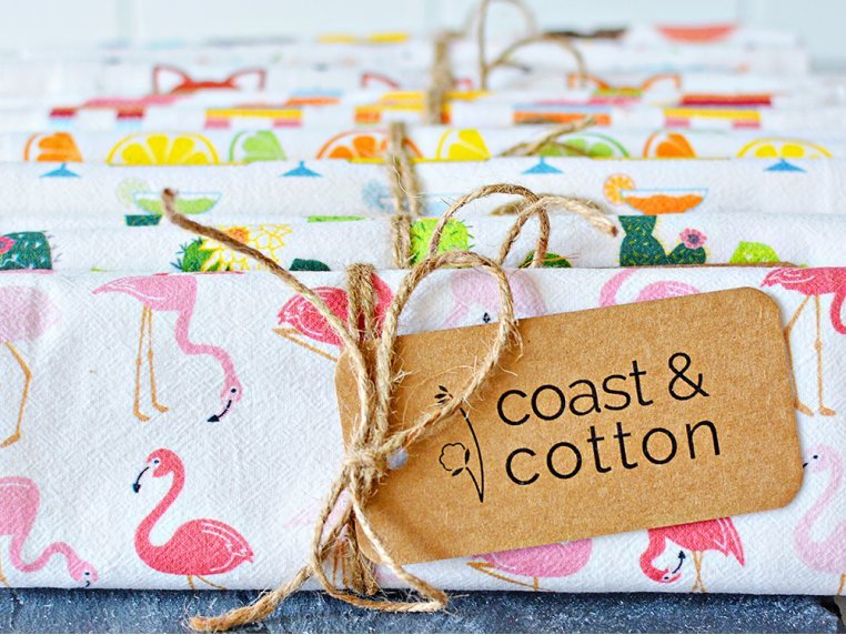 Patterned Hand Towel by Coast & Cotton - 5