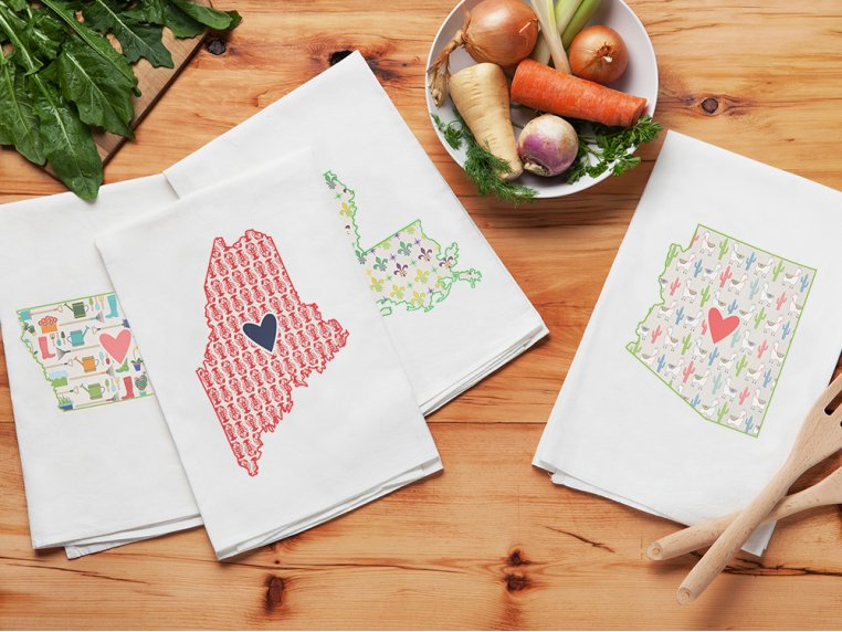Patterned Hometown Heart Hand Towel by Coast & Cotton - 2