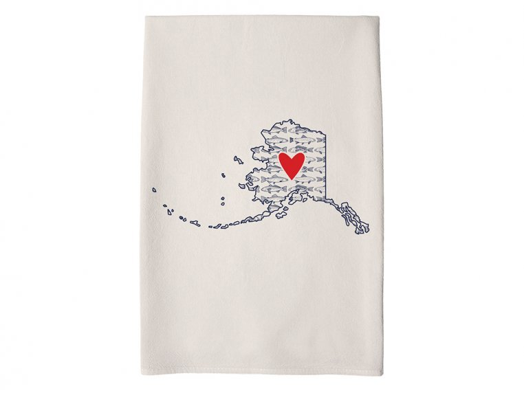 Patterned Hometown Heart Hand Towel by Coast & Cotton - 4