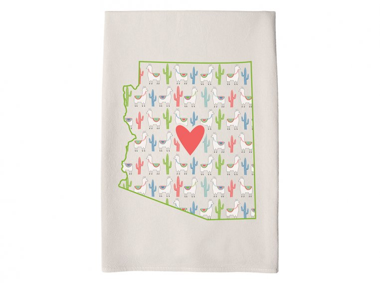 Patterned Hometown Heart Hand Towel by Coast & Cotton - 5