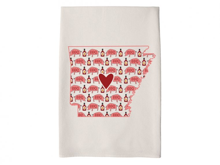 Patterned Hometown Heart Hand Towel by Coast & Cotton - 6