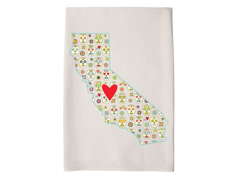 Patterned Hometown Heart Hand Towel by Coast & Cotton - 7