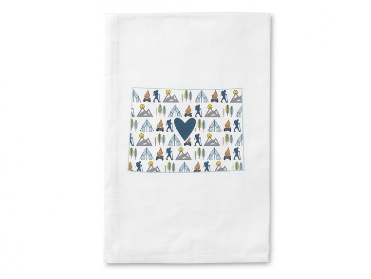 Patterned Hometown Heart Hand Towel by Coast & Cotton - 8