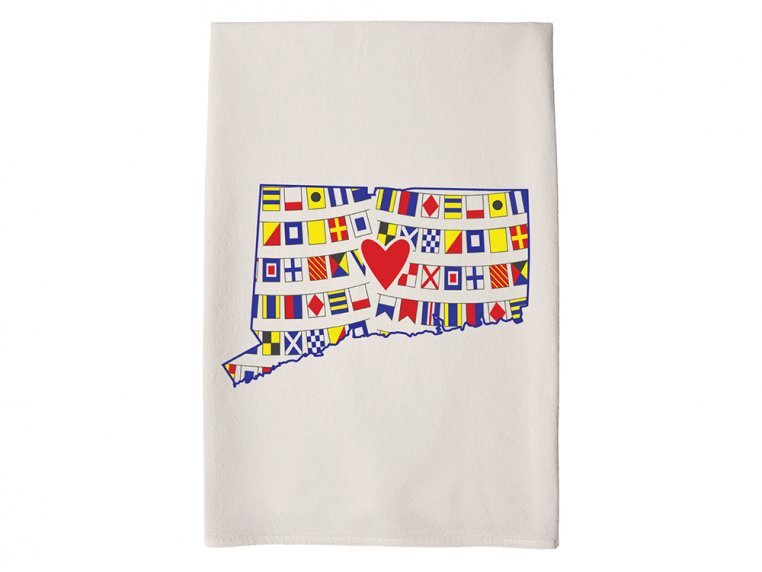 Patterned Hometown Heart Hand Towel by Coast & Cotton - 9