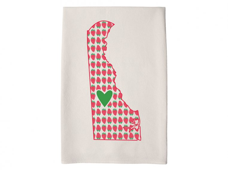 Patterned Hometown Heart Hand Towel by Coast & Cotton - 10