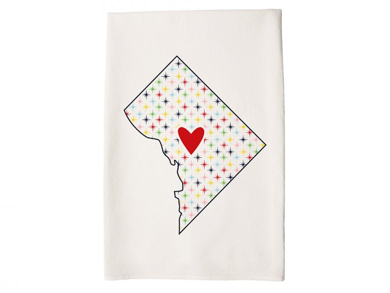 Patterned Hometown Heart Hand Towel by Coast & Cotton - 11