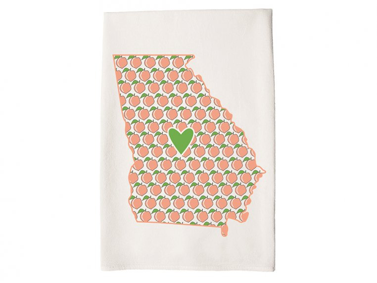 Patterned Hometown Heart Hand Towel by Coast & Cotton - 12