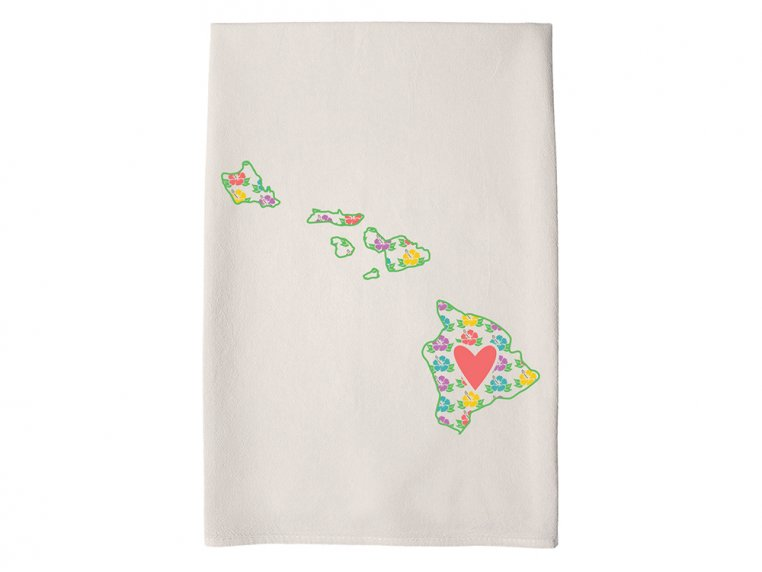 Patterned Hometown Heart Hand Towel by Coast & Cotton - 13