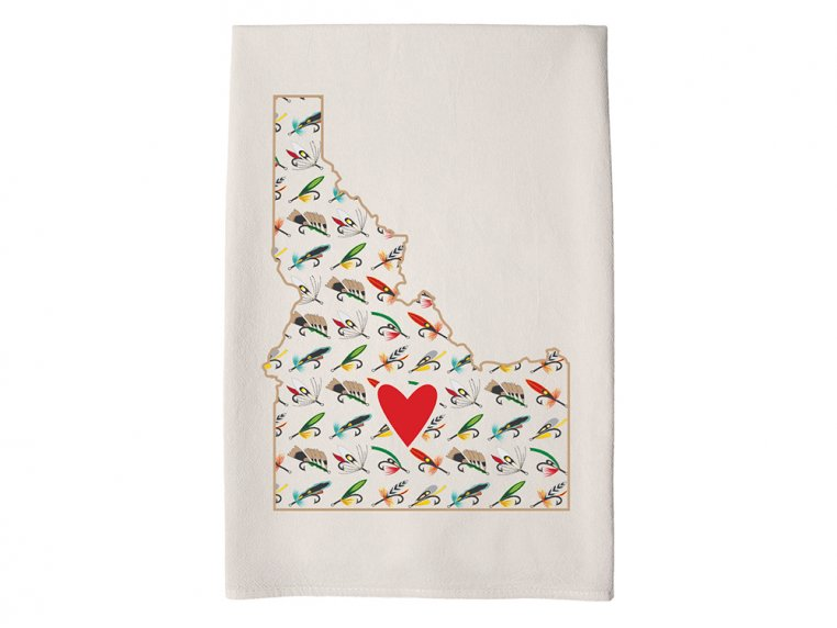 Patterned Hometown Heart Hand Towel by Coast & Cotton - 14